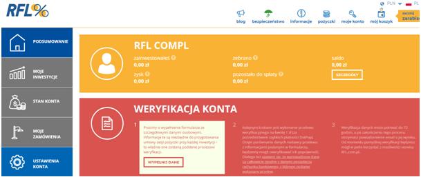 weryfikacja danych RFL RFL.com.pl: inwestycje krok po kroku